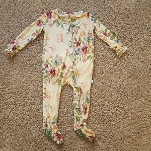 Posh Peanut baby girl sleeper footie zip up